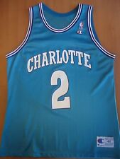 Larry Johnson Charlotte Hornets Teal Champion Jersey size 48 MINT condition!!!