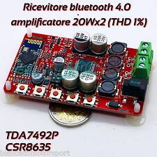 RICEVITORE AUDIO BLUETOOTH 4.0 AMPLIFICATORE CLASSE D 20Wx2 TDA7492P wireless