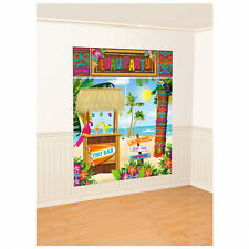 Tiki Scene Setter Photo Booth Wall Decorating Kit BBQ Garden Party 670333