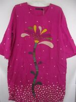 NWT Gudrun Sjoden Pink Boho 100% Organic Cotton Floral Dress POCKETS Medium M