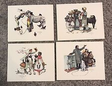"70's Vintage Norman Rockwell ""Traveling Salesmen� Set of 4 Prints"