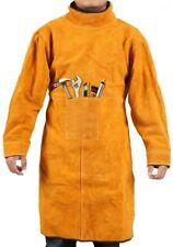 Welding Jacket Leather Welding Apron Heat & Flame-Resistant Heavy-Duty Work Apro