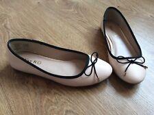 Kurt Geiger Shoes Flat Pumps Miss KG Nude Pink Ballerinas Ladies 37 4 RRP £30