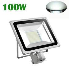 100W PIR Montion Sensor LED Flood Light Cool White Outdoor Security Lamp 240V