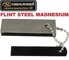 ARMY/MILITARY COMBAT FLINT STEEL+MAGNESIUM BLOCK FIRE STARTER BUSHCRAFT SURVIVAL