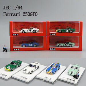 JEC 1/64 Ferrari 250GTO Resin Car Model With Figure Limited #10 #18 #112 #15