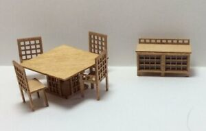 Quarter Inch Scale Modern Dining Room Furniture Kit