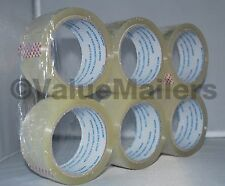 Tape 48 Rolls Quality Packaging 2 mil Packing Moving Box Carton Sealing