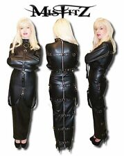 Misfitz leatherlook hobble buckle restraint dress sizes 8-32/made to measure TV