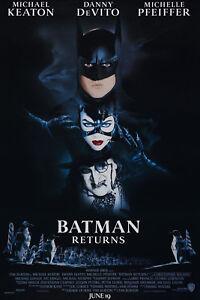 Batman returns movie poster  A4 Size