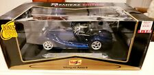NEW NIB MAISTO MORGAN AERO 8 PREMIERE EDITION 1:18 MODEL CAR BLUE METALLIC