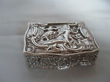 SNUFF BOX EDWARDIAN STERLING SILVER CHESTER 1909 (I)