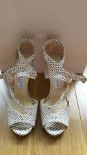 Zapatos de Cuero Genuine Jimmy Choo vida Natural De Manchas/oro Reino Unido 3 UE 36.