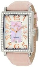 Gevril Women's 6208RL Glamour Automatic ETA 2892 DIAMOND Pink Leather Watch