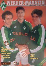 Programm 1997/98 SV Werder Bremen - MSV Duisburg