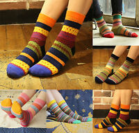 Fashion Stripe Cotton Socks Design Multi-Color Fashion Dress Women's Men's Socks