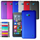 For Microsoft Lumia 640 Armour Hard Shell Case Back Cover + Screen + Stylus
