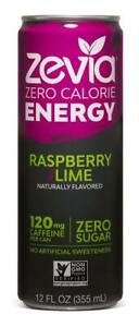 Zevia Zero Calorie Energy Drink Naturally Sweetened Energy Drink, Raspberry L...