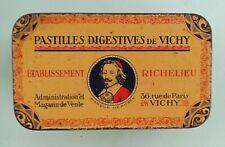 ANCIENNE BOITE  PASTILLES DE VICHY ETABLSSEMENT RICHELIEU