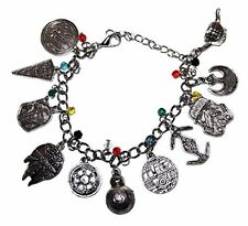 Star Wars 7 ( 11 Themed Charms) Silvertone Metal Charm Bracelet