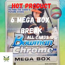 WASHINGTON NATIONALS - 2020 BOWMAN CHROME 6 MEGA BOX - 1/4+CASE- BREAK #2