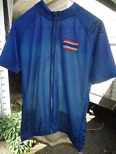 Men's Full Zippered Bicycle Jersey By SDL Wonga Size L with tags Thailand