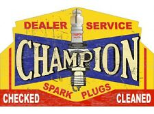 NEW Champion Dealer Service tin metal sign