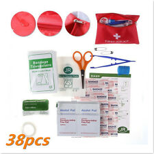 38 Piece Compact First Aid Belt Kit in Bag Small Travel Sports Home Office Car