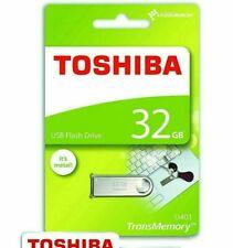 Toshiba TransMemory 32GB USB 2.0 High Speed Flash Stick Pen Memory Drive - METAL