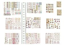 Dollhouse Miniature Shabby Chic Decals 1:48 Floral Flowers Roses Quarter 1/4