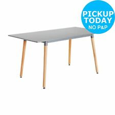 Hygena Charlie Extendable 4 - 6 Seater Dining Table - Grey