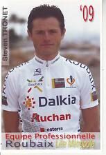 CYCLISME carte  cycliste STEVEN TRONET  équipe ROUBAIX LILLE METROPOLE 2009