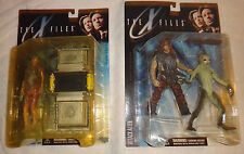 McFarlane X-Files Fireman Attack Alien Caveman Series 1 figure set lot G