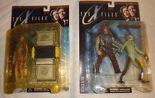 McFarlane X-Files Fireman Attack Alien Caveman Series 1 figure set lot G