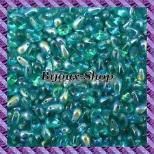 25 Perles de bohème goutte 9 x 6mm coloris Zircon ab