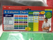 Scholastic Teacher's Friend 3-Column Chart Pocket Chart, Multiple Colors (TF5114