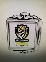 Richmond Tigers Logo s925 Silver Charm by Pandora's Kings AFL