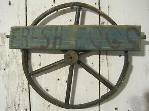 Old Primitive Small Wood Wagon Wheel for Toy Wagon New England Find AAFA