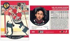 1990-91 PRO SET HOCKEY #598 - ED BELFOUR (ROOKIE)