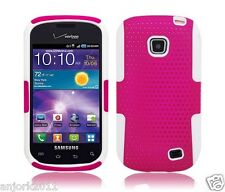 Samsung Galaxy Proclaim Illusion Mesh Hybrid Case Skin Cover Hot Pink White