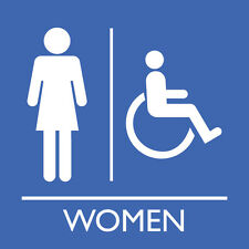 "Women Accessible Washroom 8"" x  8"""