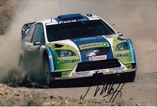 Mikko Hirvonen mano firmado Bp Ford Rally Mundial Foto De Equipo 12x8 1.