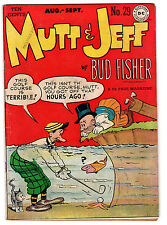 MUTT & JEFF #29 4.0 CREAM TO OFF-WHITE PAGES GOLDEN AGE