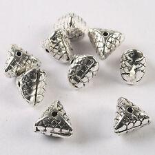 7pcs Tibetan silver triangle charm findings h1494