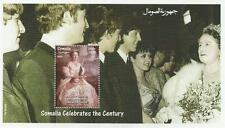 "THE BEATLES JOHN LENNON QUEEN MOTHER SOMALIA 1999 7"" x 4"" MNH STAMP SHEETLET"