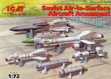 SOVIET AIR-TO-SURFACE ARMS (to MiG 23/27/29/33/35 Su 22/24/25/27/30/33) 1/72 ICM