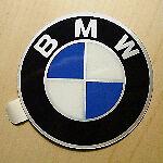 BMW Wheel Hub Cap Badge 60mm Flat GENUINE