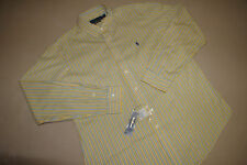 NEW NWT $89 RALPH LAUREN POLO MENS CUSTOM FIT SHIRT XL XG EXTRA LARGE YELLOW