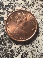 1972 Cayman Islands 1 Cent (33 Available) High Grade! Beautiful! (1 Coin Only)