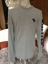 MENS DESIGNER ABERCROMBIE & FITCH MUSCLE FIT GREY LONG SLEEVED TOP S SMALL BNWOT
